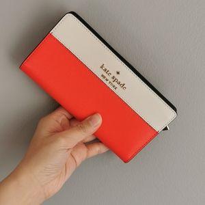 Kate Spade Large Slim Bifold Wallet Staci Color